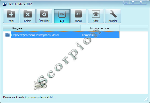 Hide Folders Türkçe Full 5.4 Build 5.4.2.1155 32×64 Bit