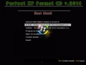 Perfect Xp Format CD 2014