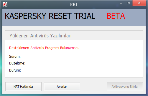 Kaspersky Reset Trial Reset Full Türkçe İndir 2018- 2019 | Full