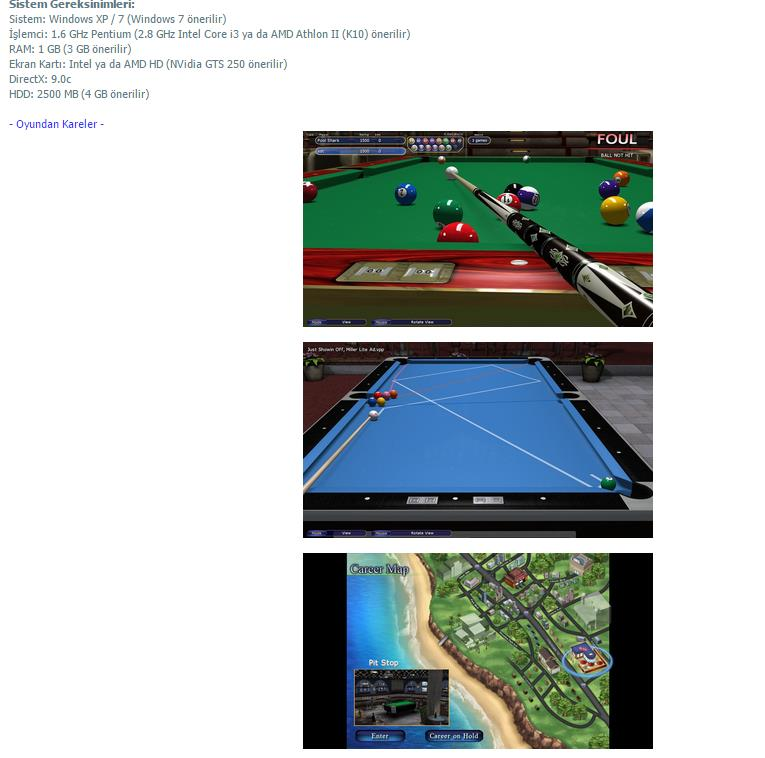 Virtual Pool 4 - PC Bilardo Oyunu 2015 Full indir
