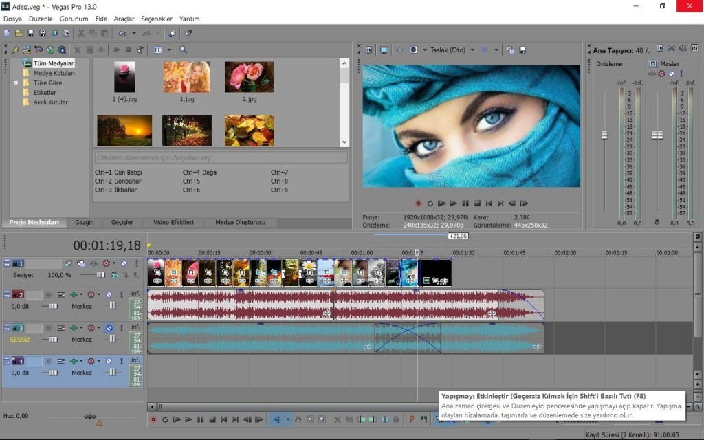 MAGIX Sony Vegas Pro Full 14.0.0 Build 201 x64Bit Türkçe ...