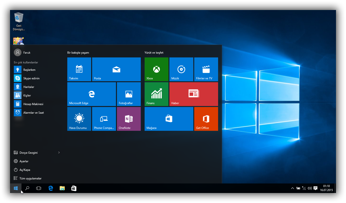Windows 10 home pro orjinal so t rk e 32x64 bit full for Window 10 pro