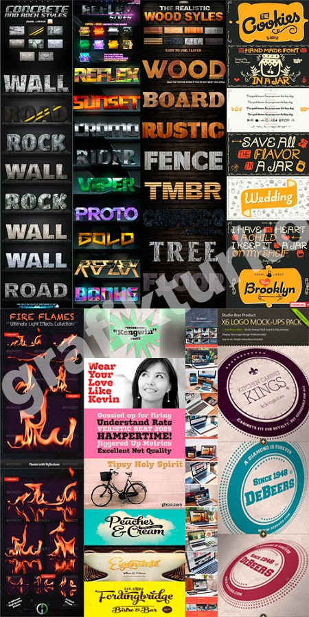Graphicriver-Collection-Photoshop-Project-Files-Fonts