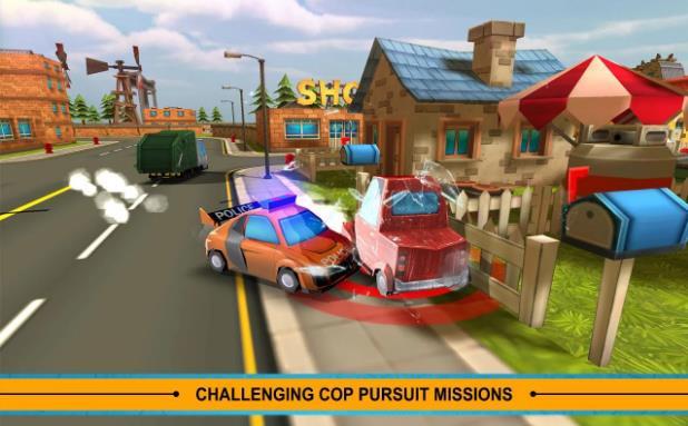 Blocky Cop Pursuit Terrorist2