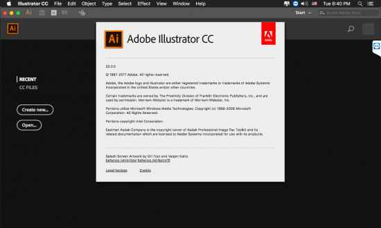 Adobe Illustrator CC 2018 macOS
